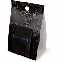 Graphic 45 - Staples Embellishments Collection - Architecture Washi Tape - Gloss Black