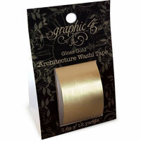 Graphic 45 - Staples Embellishments Collection - Architecture Washi Tape - Gloss Gold