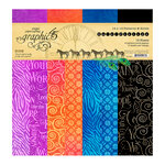 Graphic 45 - Kaleidoscope Collection - 12 x 12 Patterns and Solids Paper Pad