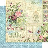 Graphic 45 - Bloom Collection - 12 x 12 Double Sided Paper - Bloom