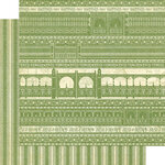 Graphic 45 - Bloom Collection - 12 x 12 Double Sided Paper - Garden Gate