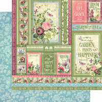 Graphic 45 - Bloom Collection - 12 x 12 Double Sided Paper - Grow With Love