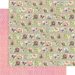 Graphic 45 - Bloom Collection - 12 x 12 Double Sided Paper - Petal Postage