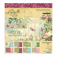Graphic 45 - Bloom Collection - 8 x 8 Paper Pad