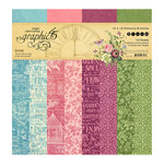 Graphic 45 - Bloom Collection - 12 x 12 Patterns and Solids Paper Pad