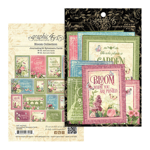 Graphic 45 - Bloom Collection - Ephemera Cards