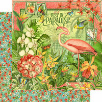 Graphic 45 - Lost In Paradise Collection - 12 x 12 Double Sided Paper - Lost In Paradise