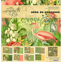 Graphic 45 - Lost In Paradise Collection - 12 x 12 Collection Pack