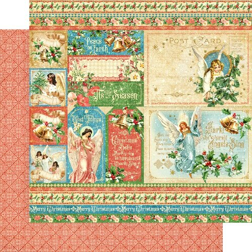 Graphic 45 - Christmas - Joy to the World Collection - 12 x 12 Double Sided Paper - Hallelujah