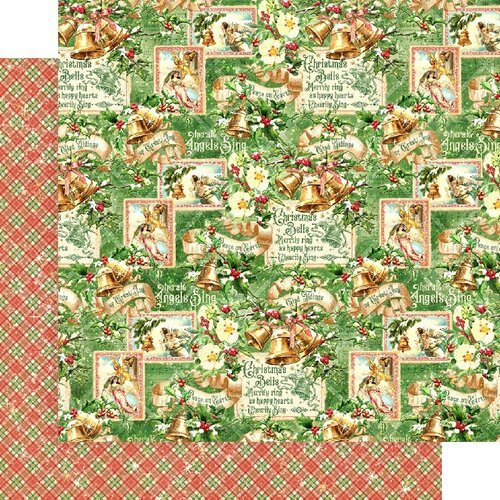 Graphic 45 - Christmas - Joy to the World Collection - 12 x 12 Double Sided Paper - Angels Sing