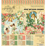Graphic 45 - Christmas - Joy to the World Collection - 8 x 8 Paper Pad