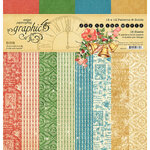 Graphic 45 - Christmas - Joy to the World Collection - 12 x 12 Patterns and Solids Paper Pad