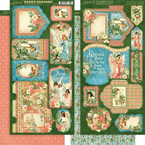 Graphic 45 - Christmas - Joy to the World Collection - Tags and Pockets