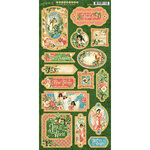 Graphic 45 - Christmas - Joy to the World Collection - Die Cut Chipboard Tags