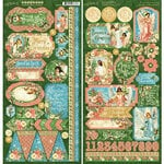 Graphic 45 - Christmas - Joy to the World Collection - Stickers