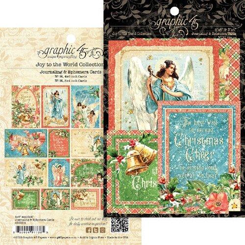 Graphic 45 - Christmas - Joy to the World Collection - Ephemera Cards