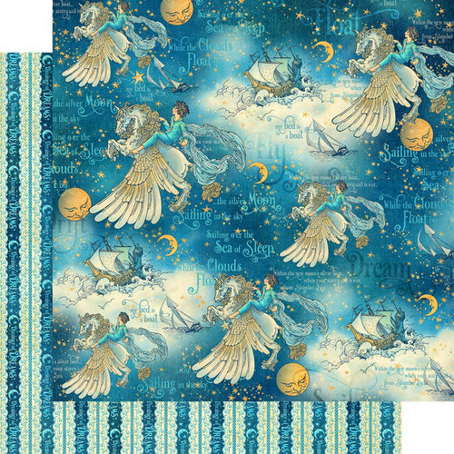 Graphic 45 - Dreamland Collection - 12 x 12 Double Sided Paper - Unicorn Fantasy