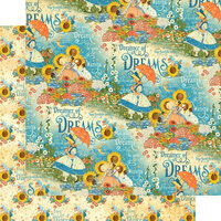 Graphic 45 - Dreamland Collection - 12 x 12 Double Sided Paper - Enchanted Garden