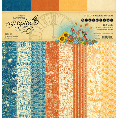 Graphic 45 - Dreamland Collection - 12 x 12 Patterns and Solids Paper Pad