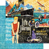 Graphic 45 - Life's A Journey Collection - 12 x 12 Double Sided Paper - Life's a Journey