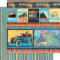 Graphic 45 - Life's A Journey Collection - 12 x 12 Double Sided Paper - Get Lost