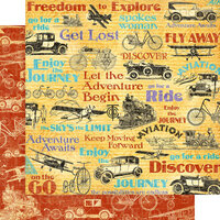 Graphic 45 - Life's A Journey Collection - 12 x 12 Double Sided Paper - Fly Away