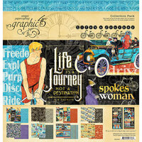Graphic 45 - Life's A Journey Collection - 12 x 12 Collection Pack