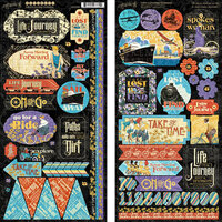 Graphic 45 - Lifes A Journey Collection - 12 x 12 Cardstock Stickers