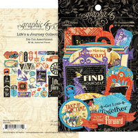 Graphic 45 - Lifes A Journey Collection - Die Cut Assortment