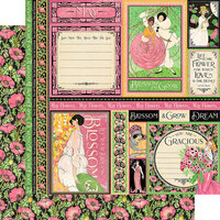 Graphic 45 - Fashion Forward Collection - 12 x 12 Double Sided Paper - May