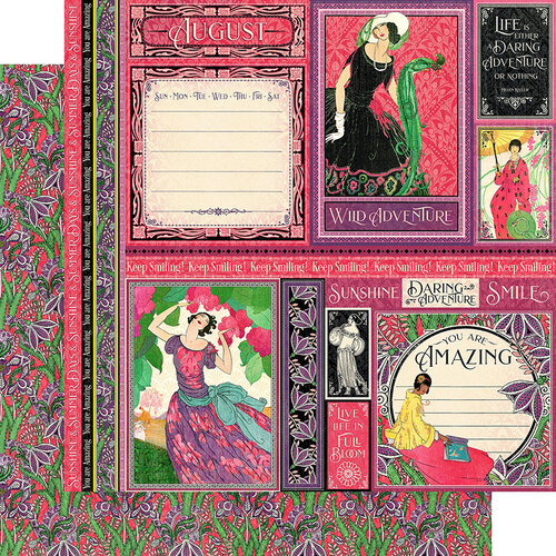 Graphic 45 - Fashion Forward Collection - 12 x 12 Double Sided Paper - August