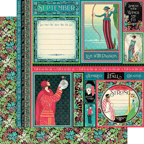 Graphic 45 - Fashion Forward Collection - 12 x 12 Double Sided Paper - September