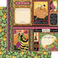 Graphic 45 - Fashion Forward Collection - 12 x 12 Double Sided Paper - October