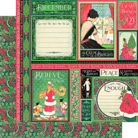 Graphic 45 - Fashion Forward Collection - 12 x 12 Double Sided Paper - December