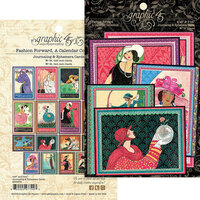 Graphic 45 - Fashion Forward Collection - Embellishments - Ephemera and Journaling Cards