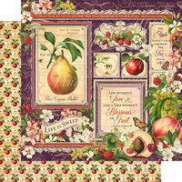 Graphic 45 - Fruit and Flora Collection - 12 x 12 Double Sided Paper - Fruit and Flora