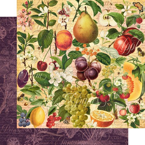 Graphic 45 - Fruit and Flora Collection - 12 x 12 Double Sided Paper - Nature's Bounty