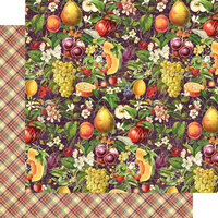 Graphic 45 - Fruit and Flora Collection - 12 x 12 Double Sided Paper - Abundant Harvest