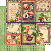 Graphic 45 - Fruit and Flora Collection - 12 x 12 Double Sided Paper - Orchard Fresh