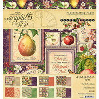 Graphic 45 - Fruit and Flora Collection - 8 x 8 Paper Pad