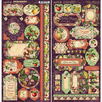 Graphic 45 - Fruit and Flora Collection - 6 x 12 Cardstock Stickers