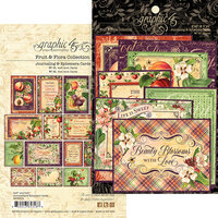 Graphic 45 - Fruit and Flora Collection - Journaling Cards