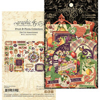 Graphic 45 - Fruit and Flora Collection - Die Cut Assortment