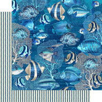 Graphic 45 - Ocean Blue Collection - 12 x 12 Double Sided Paper - Capri