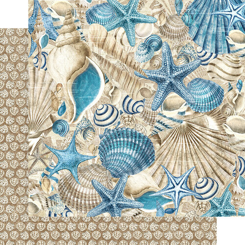 Graphic 45 - Ocean Blue Collection - 12 x 12 Double Sided Paper - Belize