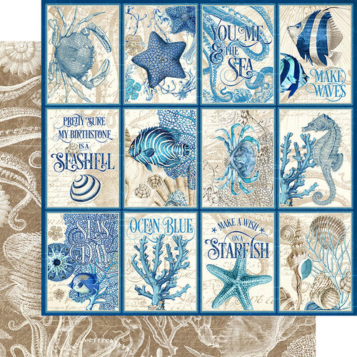 Graphic 45 - Ocean Blue Collection - 12 x 12 Double Sided Paper - Cozumel