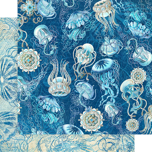 Graphic 45 - Ocean Blue Collection - 12 x 12 Double Sided Paper - Fiji
