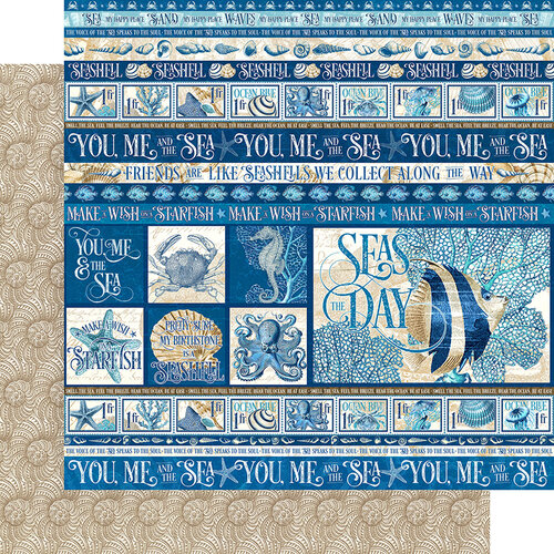 Graphic 45 - Ocean Blue Collection - 12 x 12 Double Sided Paper - Corfu