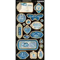 Graphic 45 - Ocean Blue Collection - Chipboard