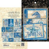 Graphic 45 - Ocean Blue Collection - Journaling Cards